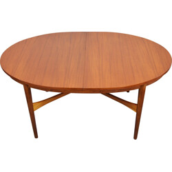 Mid-century teak extendable oval dining table by Beithcraft - 1960s