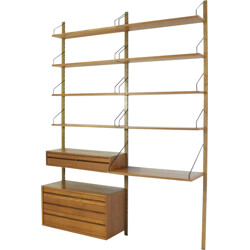 Mid-century Danish modular teak bookcase by Paul Cadovious for Cado - 1960s