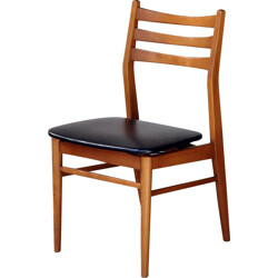 Set of 4 dining chairs in teak - 1960s