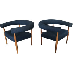 Pair of Ring Chairs by Nanna Ditzel for Kolds Savværk - 1950s