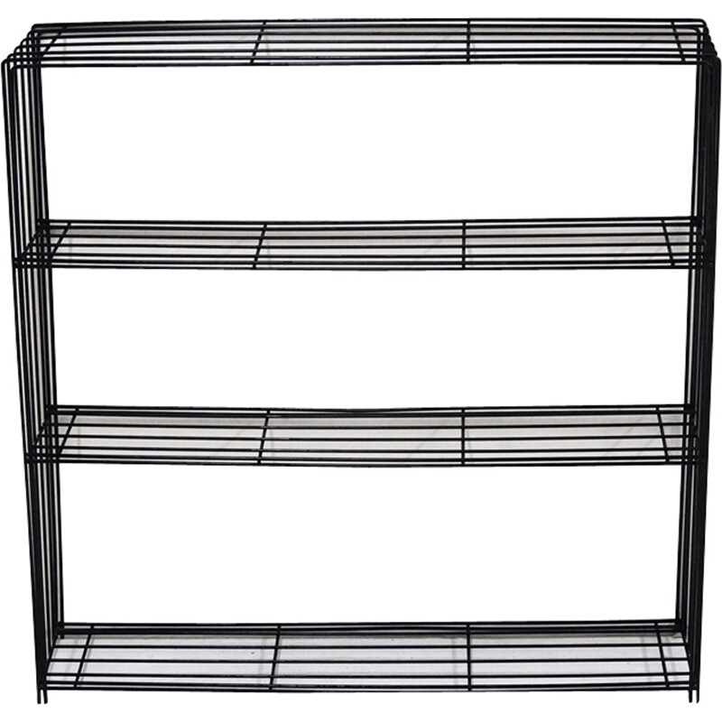 Wire shelving Wall Unit by Tjerk Reijenga for Pilastro - 1950s