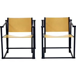Pair of FM61 Lounge Chairs by Radboud van Beekum for Pastoe - 1980s