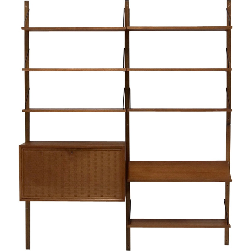 """Mid-Century """"Royal System"""" Teak Wall Unit by Poul Cadovius for Cado, Denmark - 1960s"""