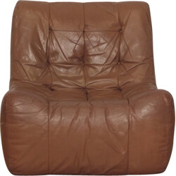 Lounge chair in brown leather - 1970s