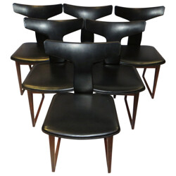 Set of 6 chairs in rosewood, Arne VODDER - 1960s