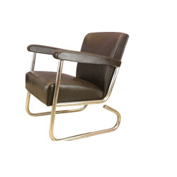 Vintage black armchair produced by Roneo - 1960s