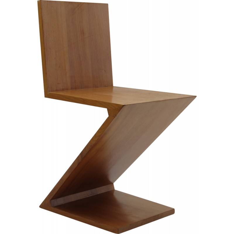 Zig zag chair by gerrit rietveld for cassina italy 1970s for Cassina italy