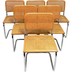 Set of 6 chairs by Marcel Breuer produced by Cesca - 1980s