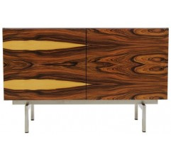 Rosewood sideboard with inox-steel base - 1960s