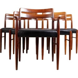 Set of six dining chairs by H W Klein for Bramin - 1960s