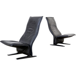 """Pair of Pierre Paulin F784 """"concorde"""" easy chairs for Artifort - 1960s"""