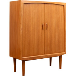 Highboard in teak with an organic design by Bartels - 1960s