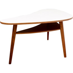 Large kidney table with tray in beech wood - 1950s
