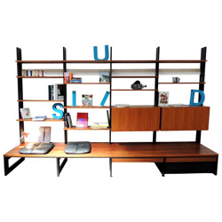 Modular bookcase in Rosewood, Dieter WAECKERLIN - 1960s