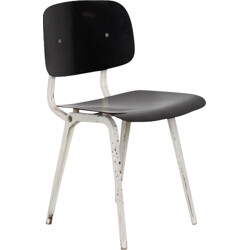 Black Revolt chair by Friso Kramer for Ahrend De Cirkel - 1950s