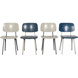 Set of 4 Revolt Chairs by Friso Kramer for Ahrend De Cirkel - 1950s