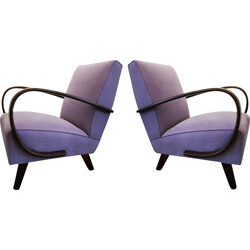 Pair of mid century armchairs by Jindrich Halabala - 1950s