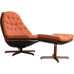 lounge chair and ottoman by Madsen & Schübell - 1960s