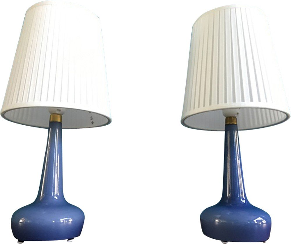 Pair of danish table lamps model 311 by esben klint for holmegaard previous next geotapseo Images