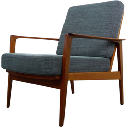 Walter Knoll easy chair with walnut frame - 1950s
