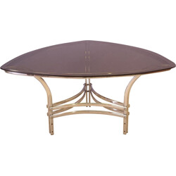 Curved triangular dining table - 1970s