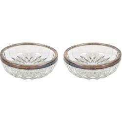 Pair of belgian glass bowls - 1950s