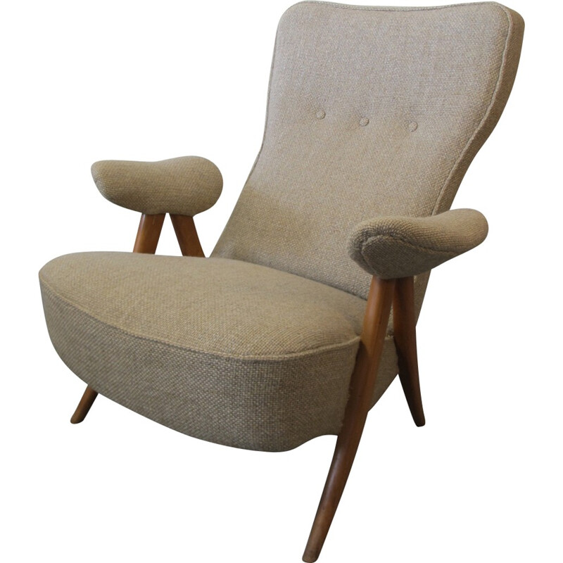 Mid-Century 105 Lounge Chair by Theo Ruth for Artifort - 1950s