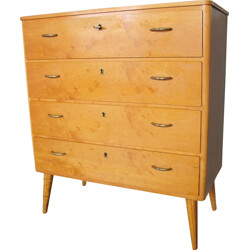 Mid century Italian Chest of Drawers with key - 1950s