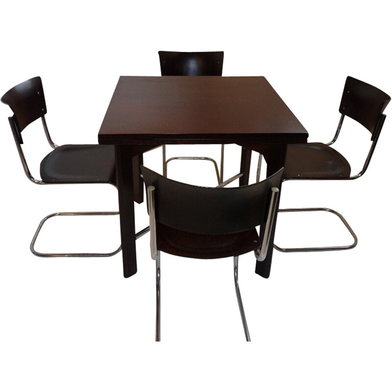 Dining set in Bauhaus style by J. Halabal and Mart Stam - 1930s