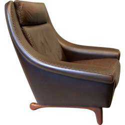 Matador leather lounge chair by Aage Christensen for Erhardsen and Andersen - 1960s
