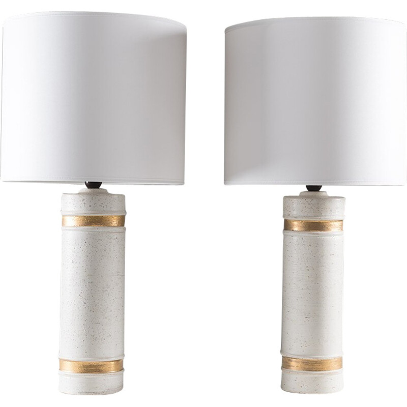 Pair of table lamps by Bitossi for Bergboms - 1960s