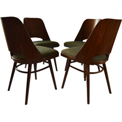 Set of four dining chairs produced by Thonet - 1960s