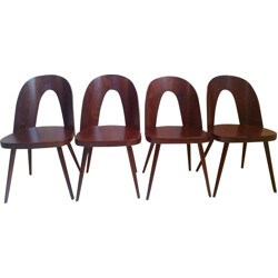 A set of 4 dining chairs in beech by Oswald Haerdtl for Thon - 1960s