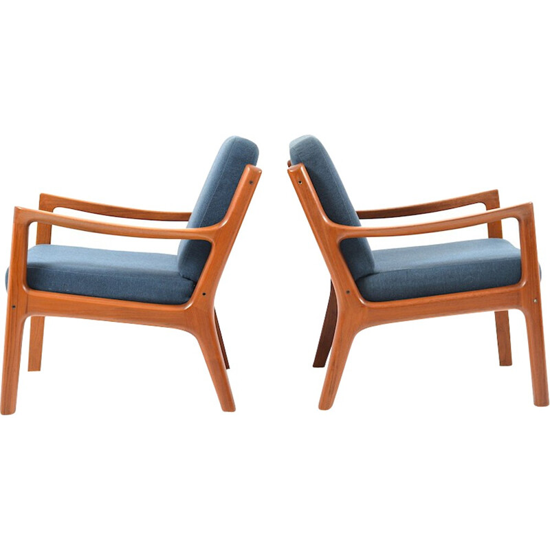 Pair of Senator lounge chairs in teak by Ole Wanscher - 1960s