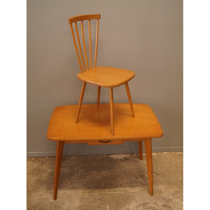 Wooden desk and kid s chair 1950s Design Market