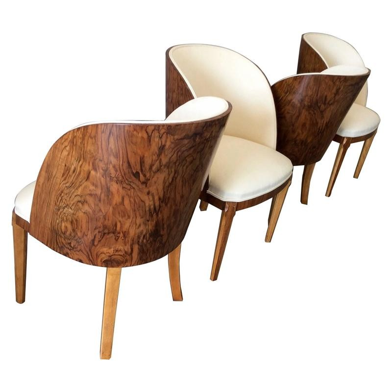 Set of 4 tub chairs by Harry and Lou Epstein - 1930s - Design Market