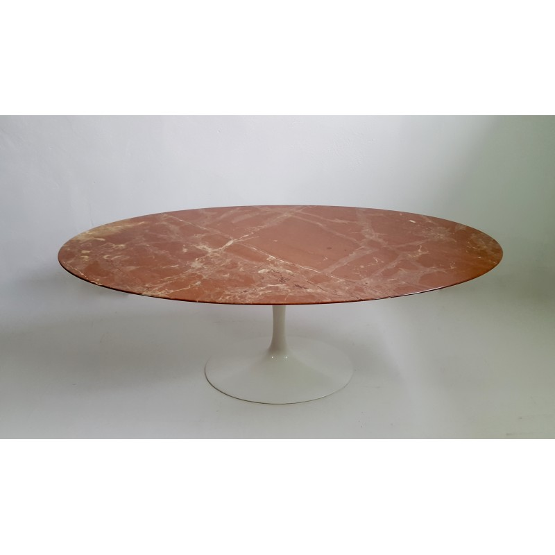 cheap oval dining table in red marble by eero saarinen for knoll table knoll ovale occasion with. Black Bedroom Furniture Sets. Home Design Ideas