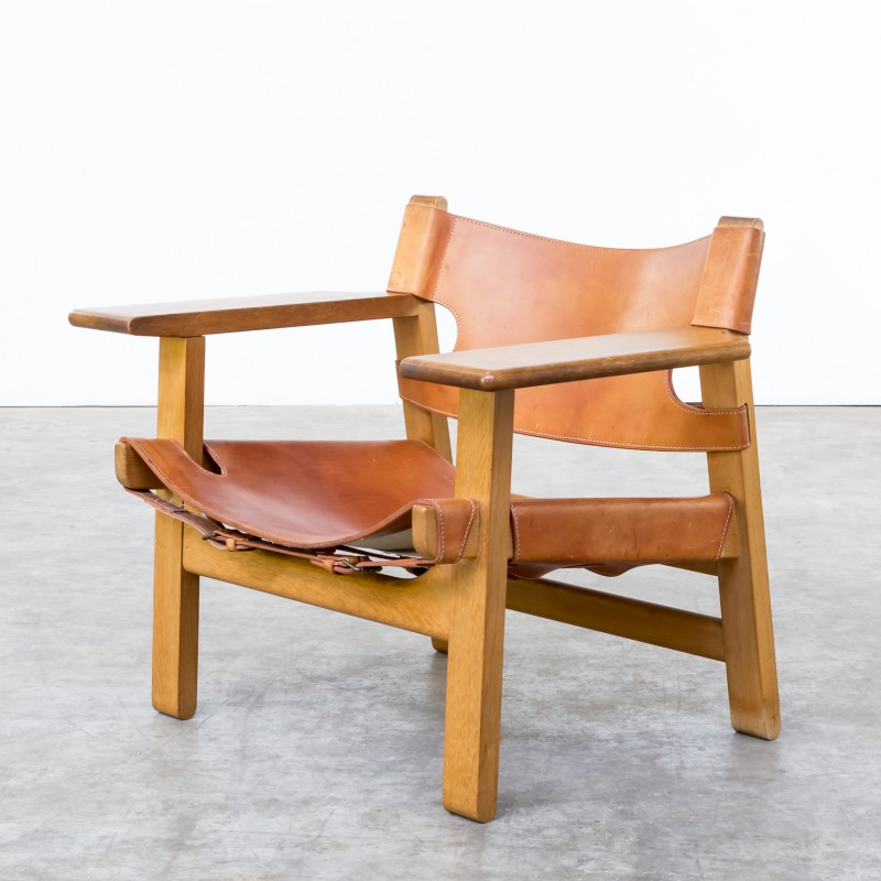 spanish chair armchair by borge mogensen for fredericia 1970s