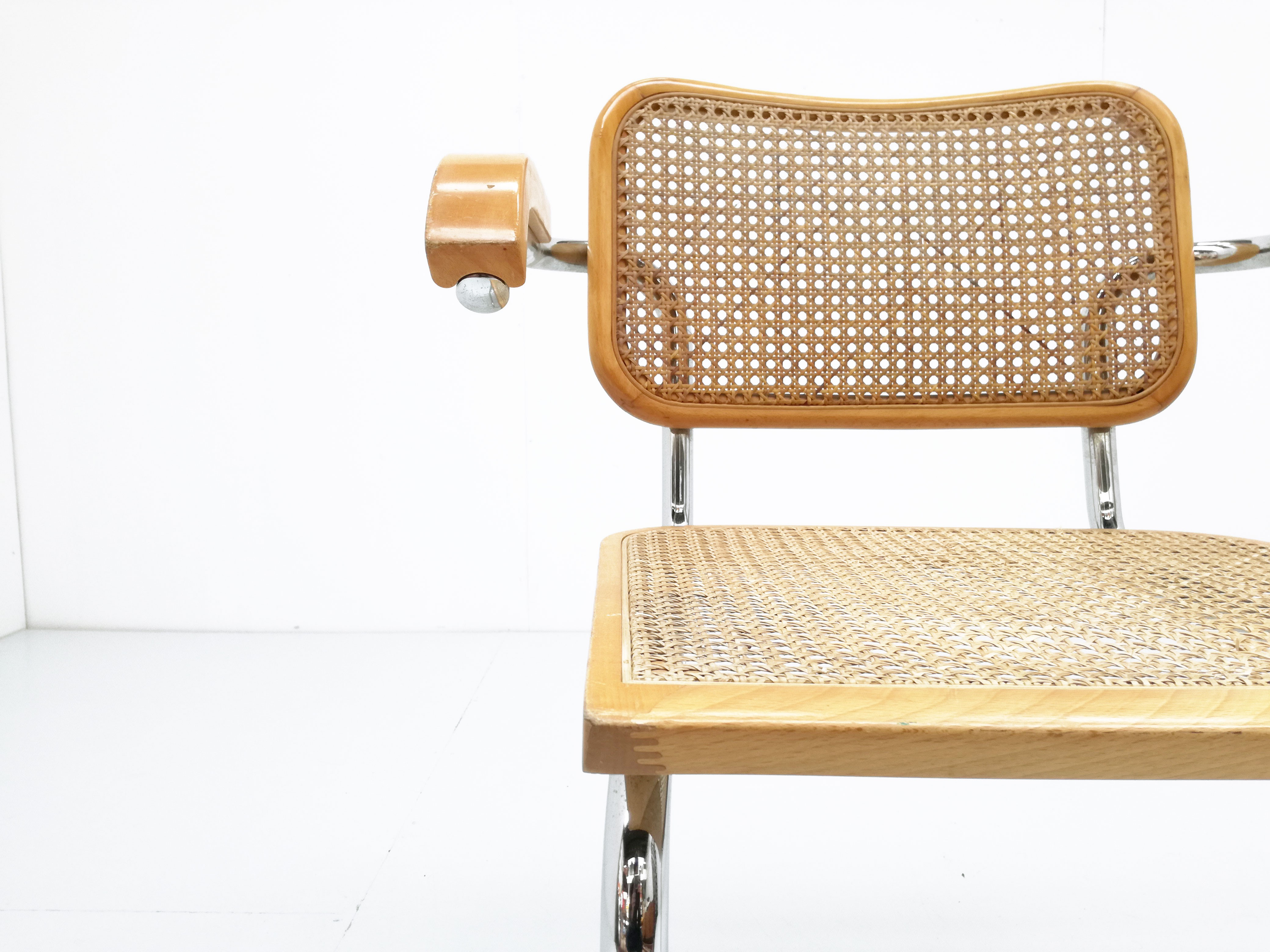 Chair model Cesca B32 by Marcel Breuer for Cidue 1970s Design