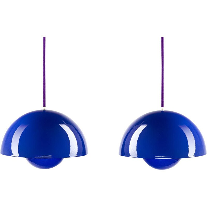 Set of 2 pendants by Verner Panton for Louis Poulsen - 1960s