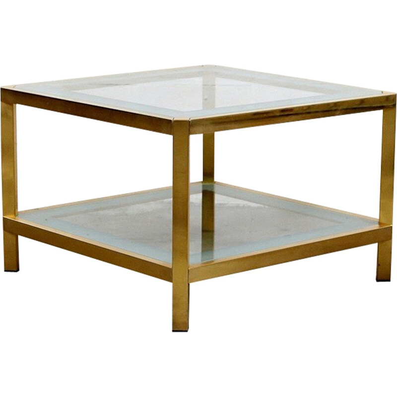 Gilded coffee table by Fedam - 1970