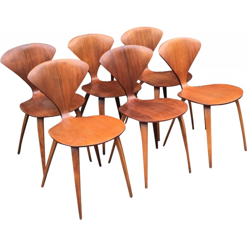 Set Of 6 Chairs By Norman Cherner For Plycraft   1960s