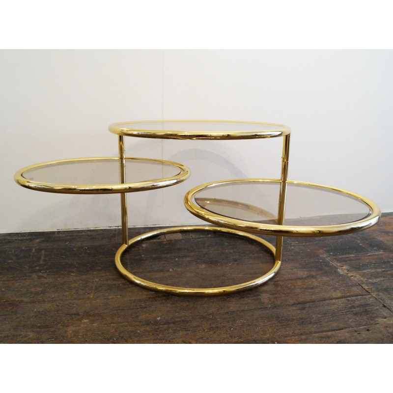 Le Corbusier Coffee Table Images Le Corbusier Coffee  : mid century 3 tiered brass and glass swivel coffee table 1980s from favefaves.com size 800 x 800 jpeg 87kB