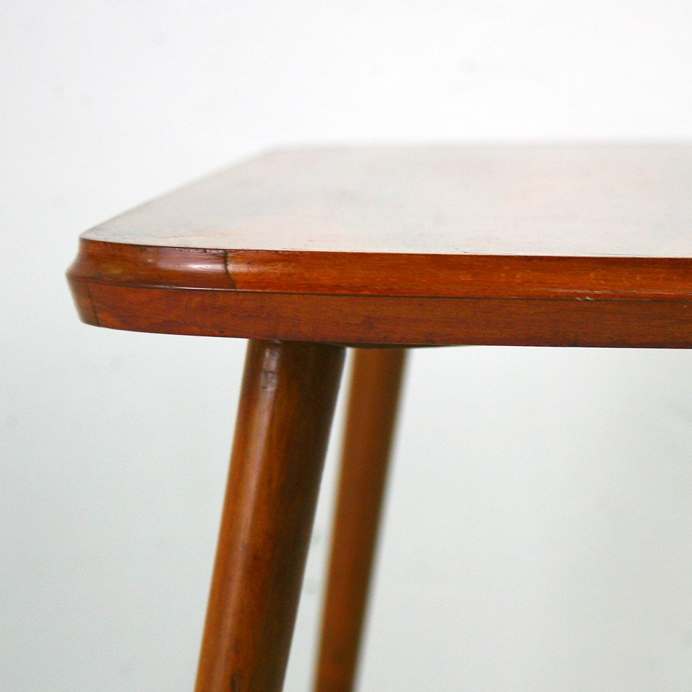 small vintage walnut table 1950s design market