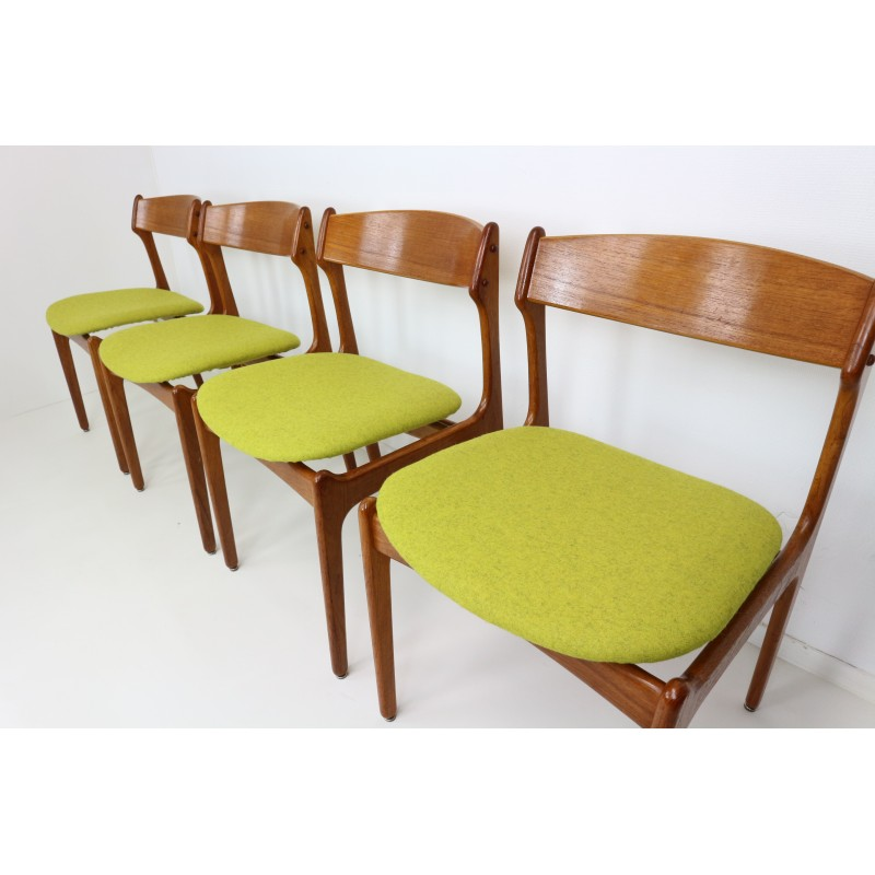 set of four dining room chairs by erik buck for o d mobler 1960s