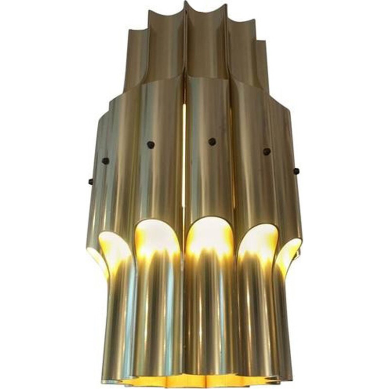 Brass hanging lamp for Lyfa by Bent Karlby - 1960s