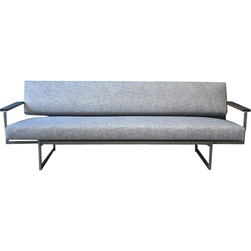 Convertible grey sofa by Rob Parry for Gelderland - 1950s