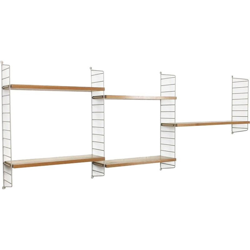 Swedish ash wall unit by Nisse Strinning for String - 1960s