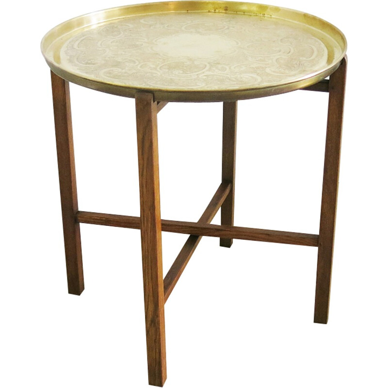 Small side table in brass - 1940s
