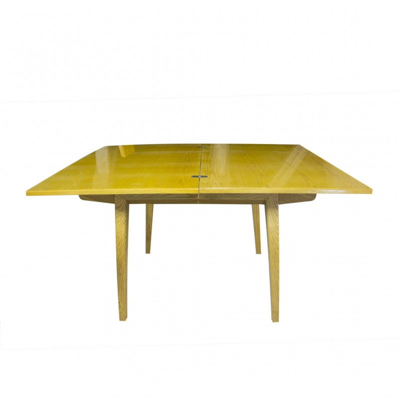 Vintage Folding Dining Table With 4 Chromed Chairs 1960s